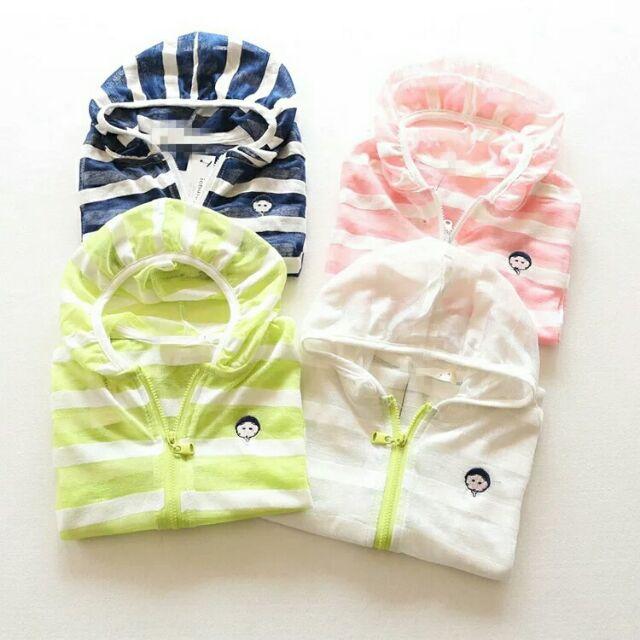 男女童春夏裝純棉拉鏈空調超薄透氣兒童長袖防晒外套