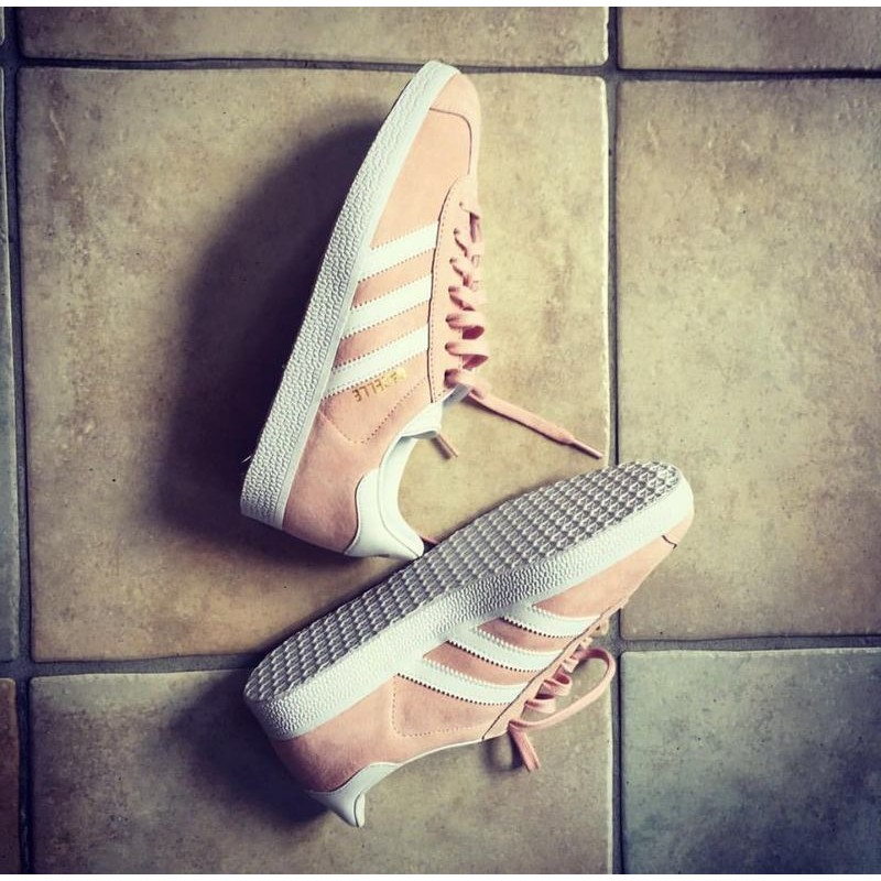 加州連線ADIDAS ORIGINALS Gazelle PINK 金標水源希子復古BA9