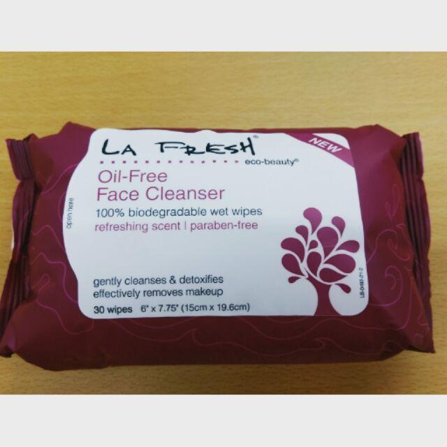 美國 LA FRESH 天然香水性卸妝濕巾30 片