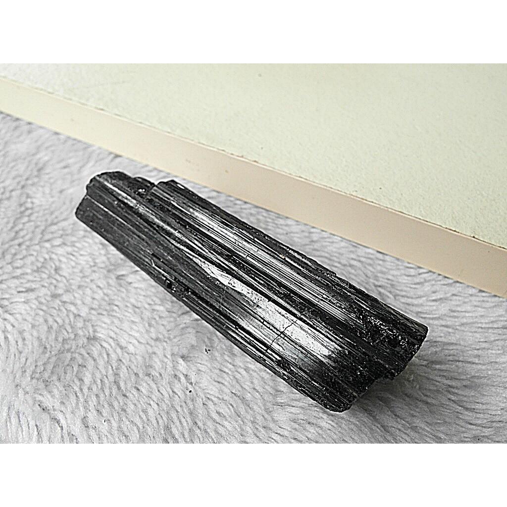 ❆寶客鋪❆寶51 ❆巴西天然黑碧璽原礦103g 共生方解石❆能量石❆黝黑閃亮❆美品