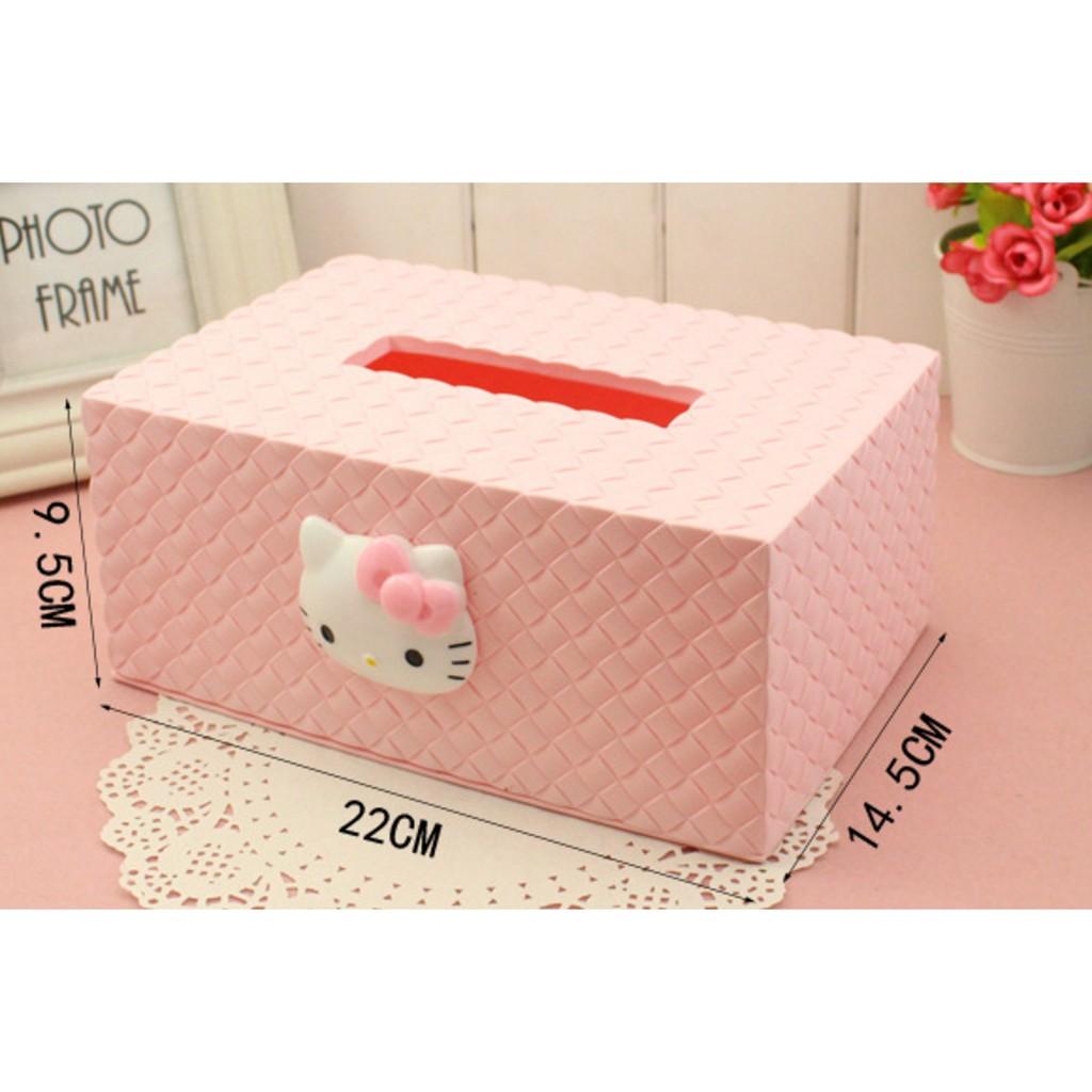hellokitty 紙巾盒家用歐式卡通可愛紙抽盒家居塑料紙巾筒