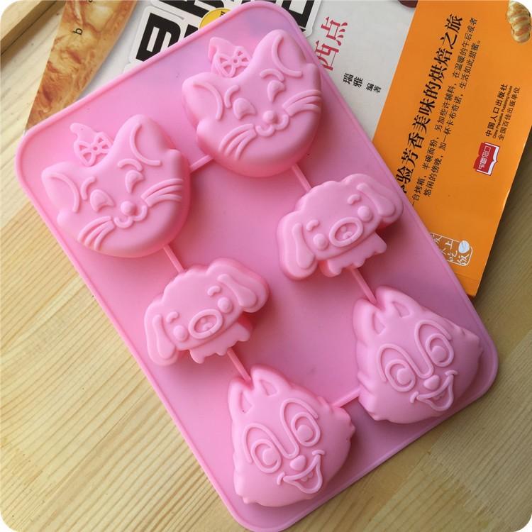 奇奇蒂蒂瑪莉貓加菲狗蛋糕模矽膠蛋糕模具 皂模果凍布丁模肥皂模具 皂模具矽膠模具香皂模具矽膠