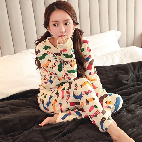 日系軟妹蝴蝶結可愛蕾絲雪紡睡衣睡裙家居服韓國正品卡通套裝睡衣