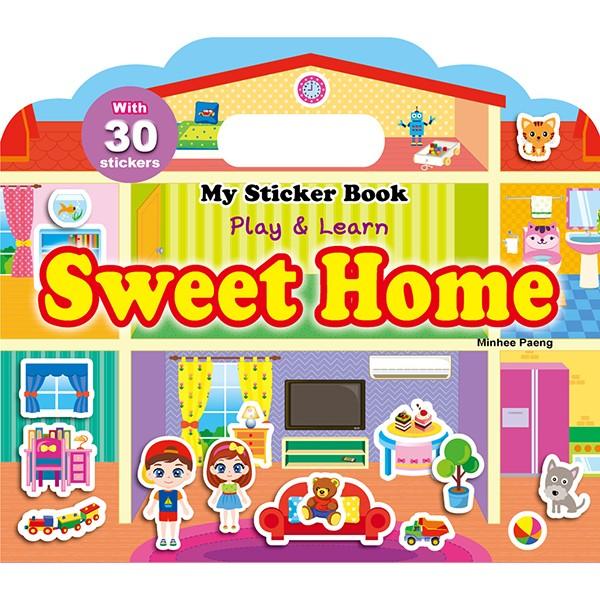 ~W 媽~人類~My Sticker Book Sweet Home 手提貼紙遊戲書~