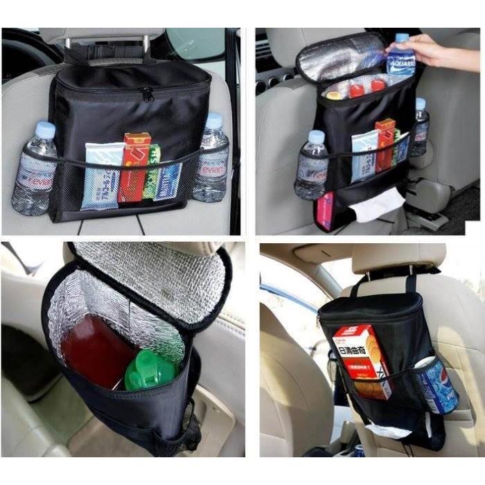 貝比童館黑色內有保溫多 置物包置物袋椅背掛袋椅背收納袋紙巾盒套儲物袋