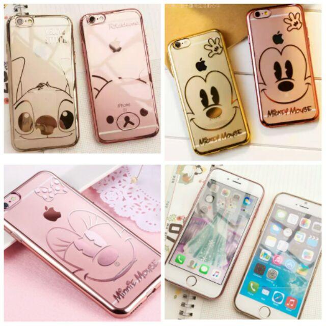 ↪ ↩蘋果iPhone6s 超萌 卡通電鍍金框迪士尼拉拉熊史迪奇軟矽膠手機殼手機套保護殼軟