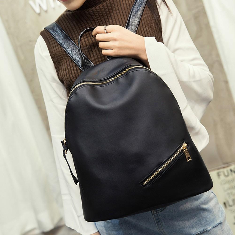 Baggra  男女 雙肩包尼龍防水拉鏈閉合大容量純色百搭 背包學生書包