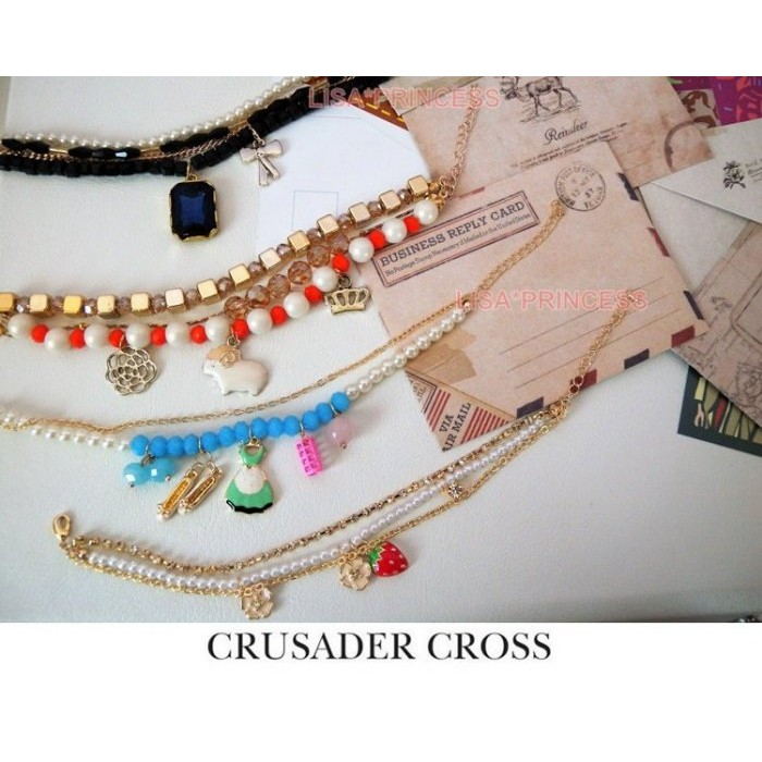 LISA 公主各類飾品韓國 百搭多元素多墬手鍊多墬寶石手鍊珍珠手鍊多掛墬花朵水鑽手鍊