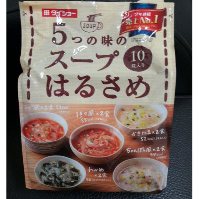 Daisho 十人份速食冬粉,5 種口味湯包一袋有10 碗入