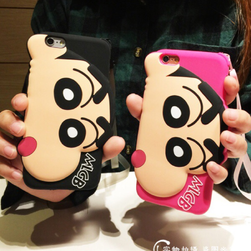 Iphone6 6s 大頭蠟筆小新iphone6plus Q 版蠟筆小新矽膠軟殼