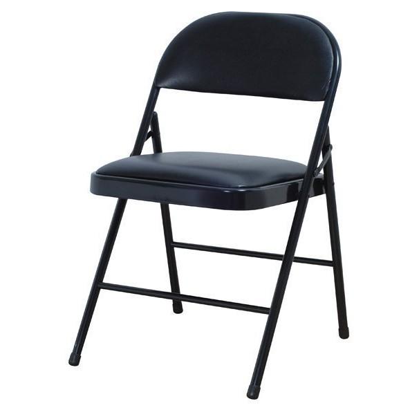 金 小店- 製橋牌黑皮折合椅橋牌灰皮折合椅會議椅折疊椅展覽椅上課椅黑灰色台中可