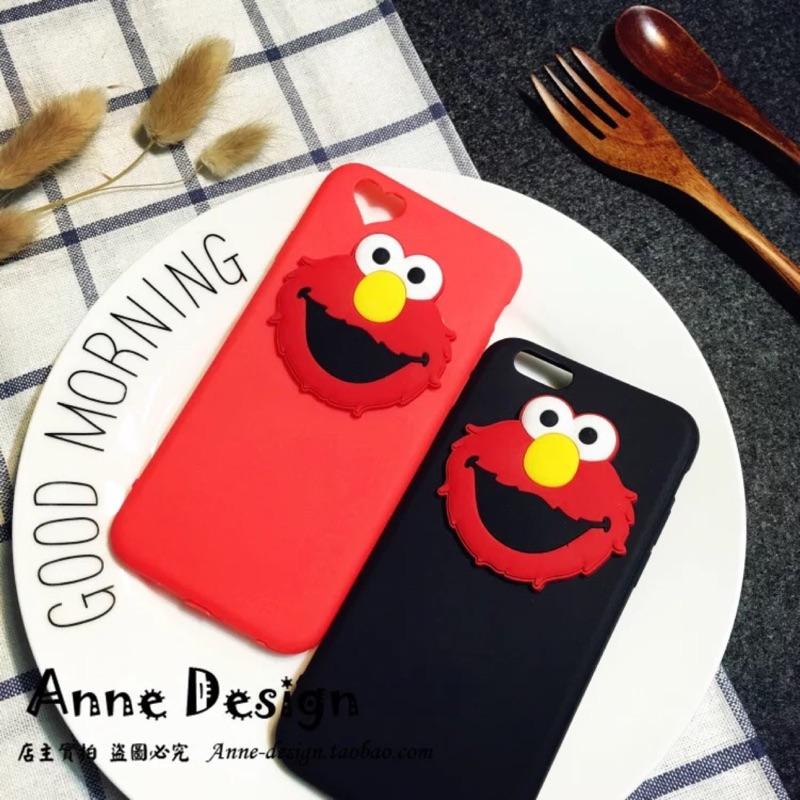韓國立體Elmo 卡通芝麻街iphone7 手機殼蘋果7 6plus 超薄塑膠軟殼情侶蘋果
