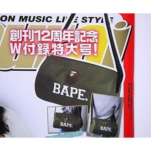 Samurai 雜誌創刊十二週年限定附錄附贈A BATHING APE BAPE 特製軍綠