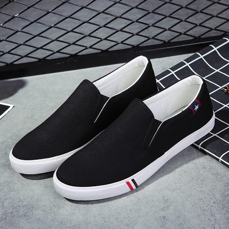 Tide 簡約7 男士帆布鞋子低幫男鞋老北京布鞋學生 潮鞋男透氣 板鞋