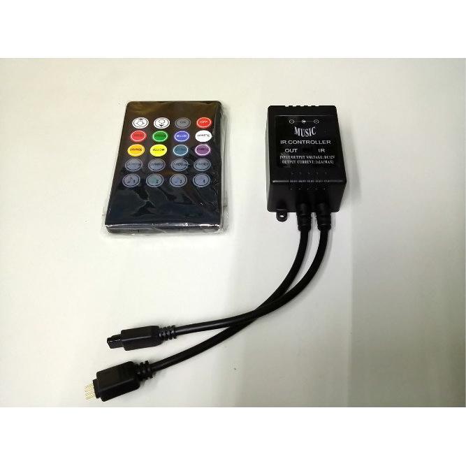 ~妏子燈鋪~彩色燈條LED IR 音樂控制器燈光隨音樂閃爍紅外線遙控RGB 燈條控制器50