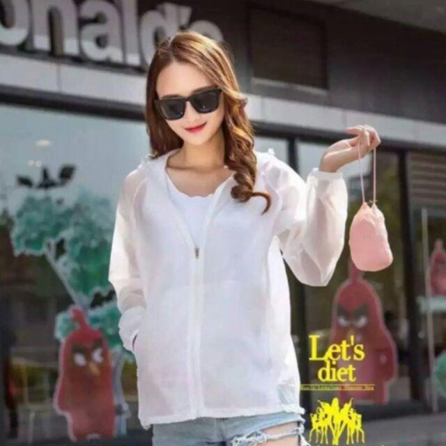 2016 韓國Let s diet 防曬輕透薄會呼吸外套顏色粉色白色綠色藍色尺寸沒分尺寸F