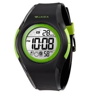 JAGA M984 AF 黑綠整點報時倒數計時1 100 碼錶EL 電子螢光板藍色夜光
