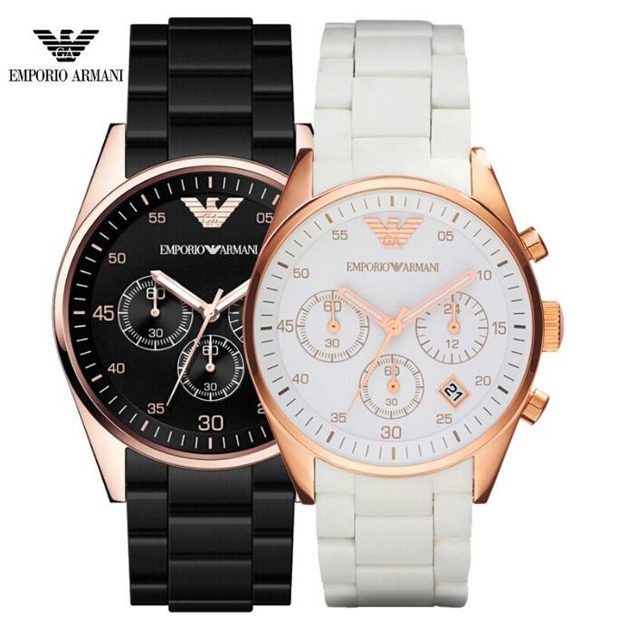 ARMANI 阿瑪尼正品潮流女錶情侶手錶鋼帶 石英女士腕錶陶瓷學生錶出國 錶AR5920