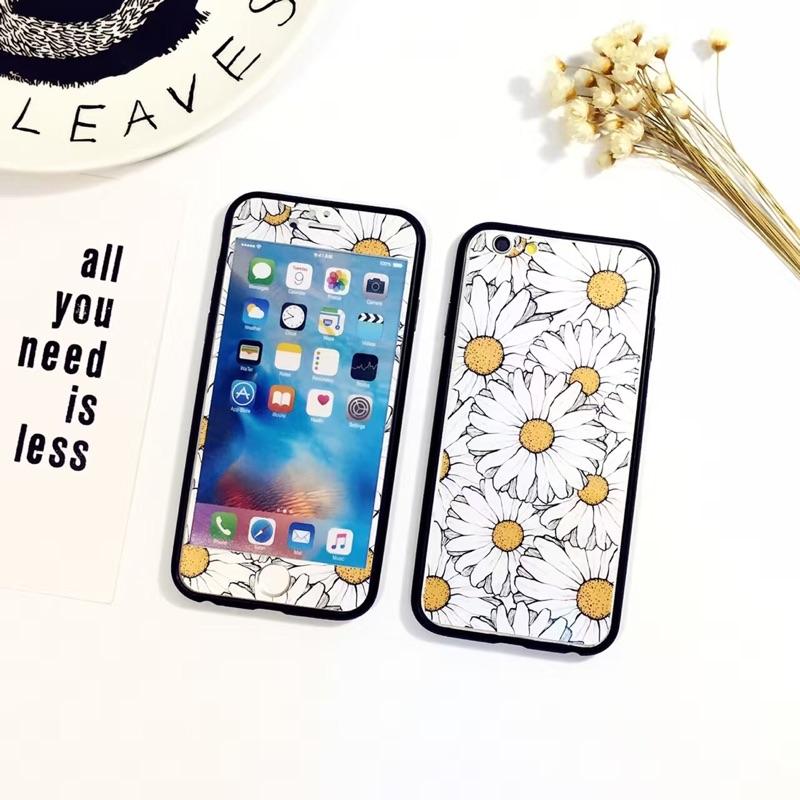 浮雕花朵蘋果iphone5 5s se 鋼化玻璃貼膜i6 6s4 7 全屏彩膜i6p 6p
