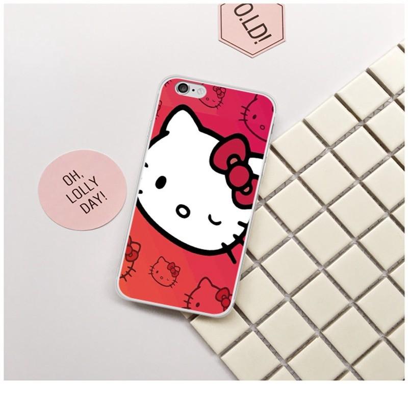 卡哇伊Hello Kitty 卡通彩印手機套蘋果三星超夯手機保護殼iPhone Samsu