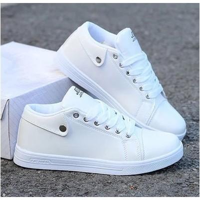 小白色板鞋日常休閒鞋 內增高鞋7CM 透氣男鞋男士 鞋子