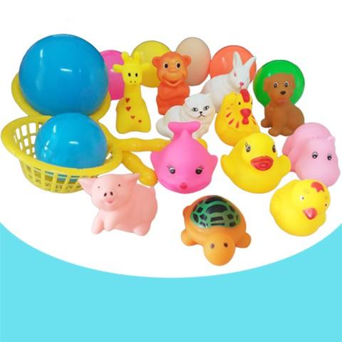 花露米  新生嬰兒寶寶洗澡捏捏叫黃色小鴨兒童遊泳沙灘戲水玩具