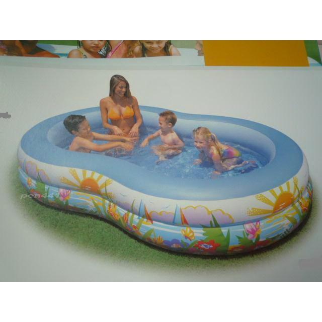 玩樂 美國INTEX 56490 8 字形充氣游泳池兒童戲水池幼兒夏天玩水池嬰兒遊戲球池附