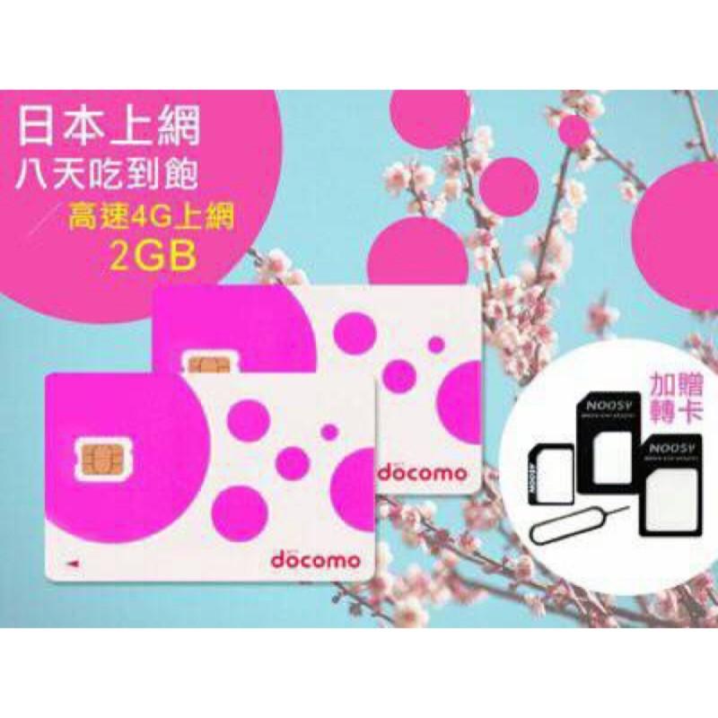 贈BIC 折價券Docomo 卡2GB 4G 3G 吃到飽2017 06 30 到期