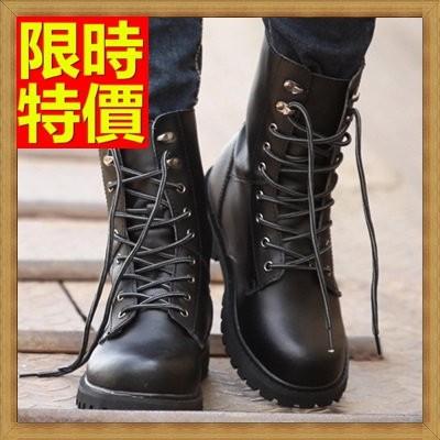 ~馬丁靴男鞋子~真皮厚底軍靴男中筒靴子4 款64h94 ~義大利 ~~米蘭 ~