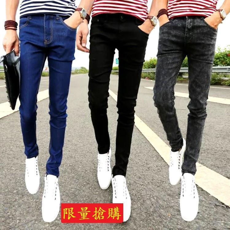 廠家直銷黑色牛仔褲 男士藍色牛仔褲男褲小腳褲男式牛仔褲