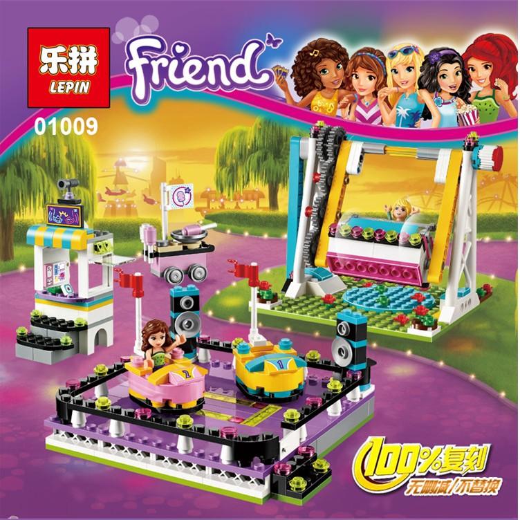 ✤愛玩客✤ 樂拼01009 遊樂園碰碰車心湖城好朋友公主精靈女孩樂高相容非LEGO 積木玩