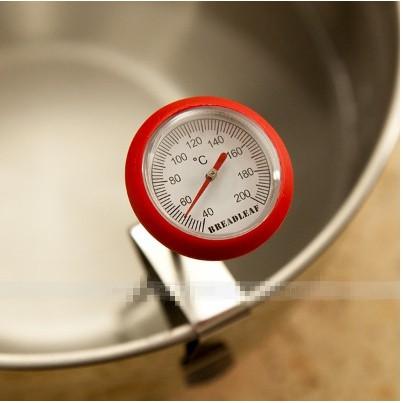 BREADLEAF 紅色矽膠探針溫度計油炸溫度計食品溫度計
