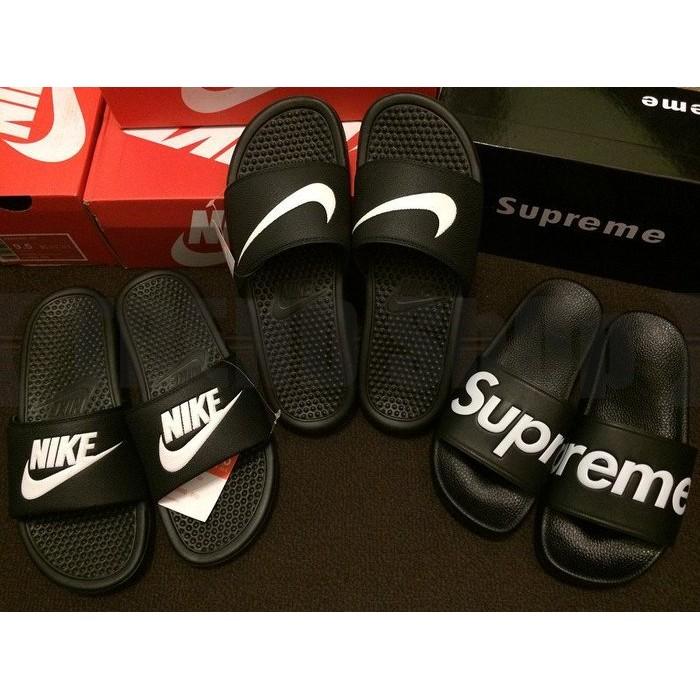 Nike Benassi Swoosh Classics GD 黑白情侶款拖鞋權誌龍著用款