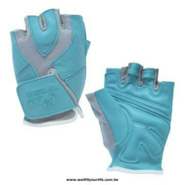 WELL FIT 威飛客健身手套女款藍綠S L
