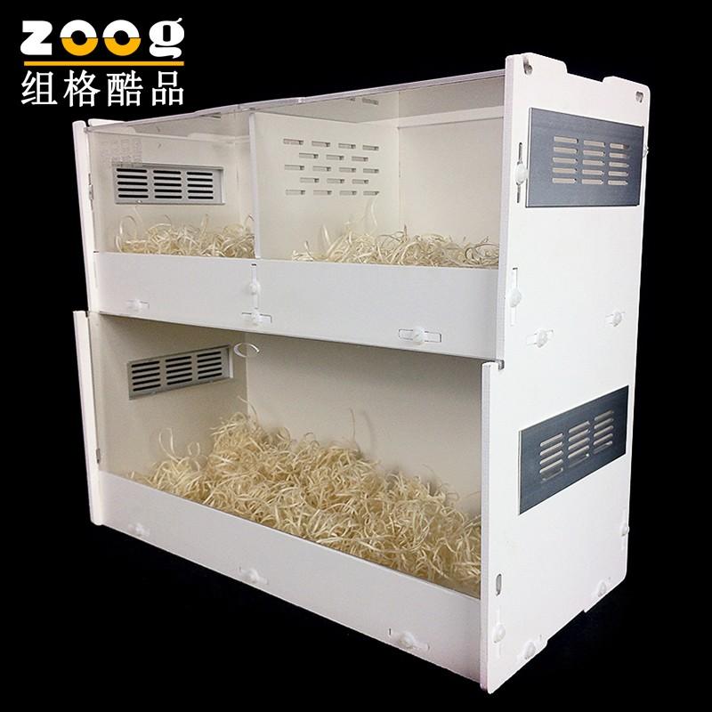 亞克力透明水晶雙層爬蟲盒爬蟲箱飼養箱缸蠍子蜥蜴蜘蛛