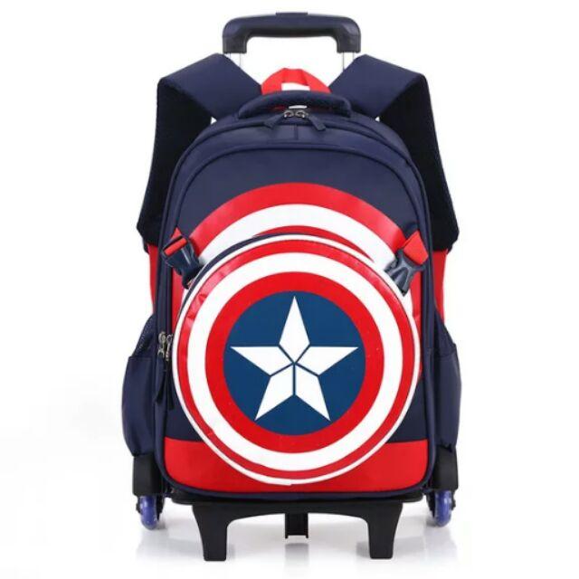 爆款 美國隊長復仇者聯盟3D 卡通兒童書包n1 3 6 年級男孩減負護脊雙肩書包3D 書包