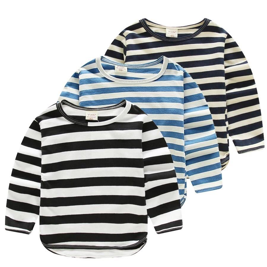 2016 年  男童條紋T 恤 純棉兒童寶寶秋裝上衣嬰幼