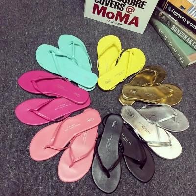 GAP 人字拖鞋女防滑休閒沙灘鞋夾腳平跟跟涼拖鞋