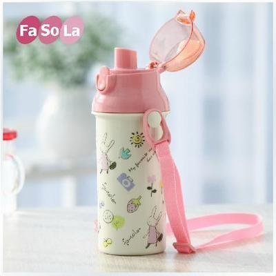 fasola 兒童冷水壺防漏便攜可愛卡通水瓶 耐熱冷水壺100 不含BPA 450ML