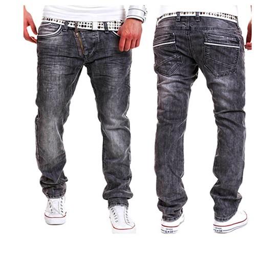 亞馬遜爆款 實拍~~FF 推出~~外貿春夏 17 亞馬遜爆款男士 外貿 拉鏈裝飾 牛仔長褲