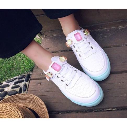 南在南方 涼鞋休閒鞋包頭涼拖鞋低跟水鑽小白鞋女懶人鞋