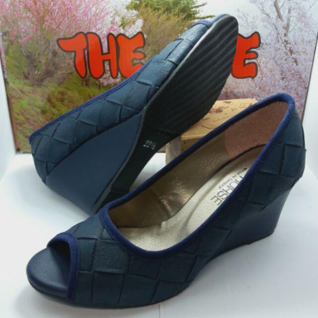 Backen MIT 款編織鞋面 魚口鞋楔形鞋