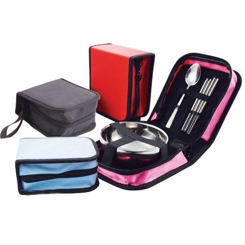 PS 樂~CJ588 ~旅行 單人不鏽鋼碗筷勺包便攜餐具 韓式旅行上班上學出差環保餐具套裝