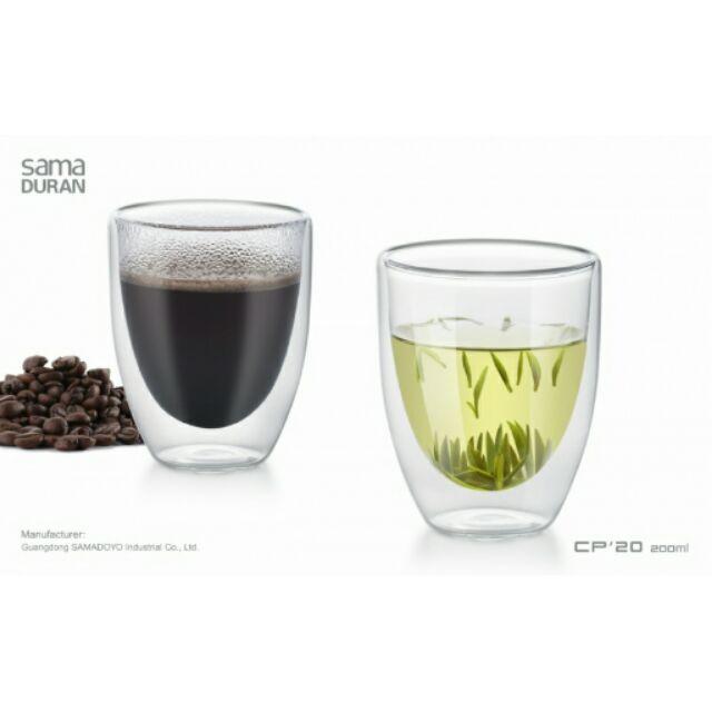 廚之坊雙層玻璃杯二入裝CP20 200ml 比 製Tiamo 優雙層玻璃杯無柄360cc