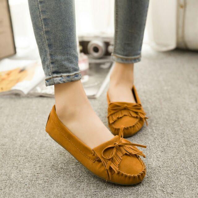 蝴蝶結流蘇軟底平底低幫單鞋圓頭豆豆鞋孕婦女鞋子