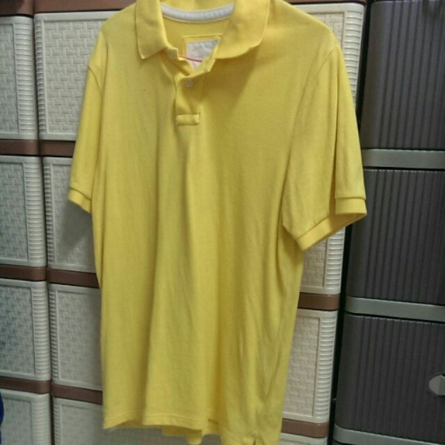 Kate 小店 Lativ 男生黃色短袖polo 衫