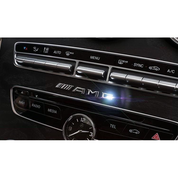 BENZ 賓士AMG 車標車貼中控裝飾貼電鍍貼標W212 S212 E200 E250 E
