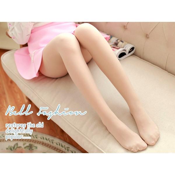 BELL FASHION STORE 精緻 絲滑細緻純色緞面天鵝絨絲襪連褲襪3 色