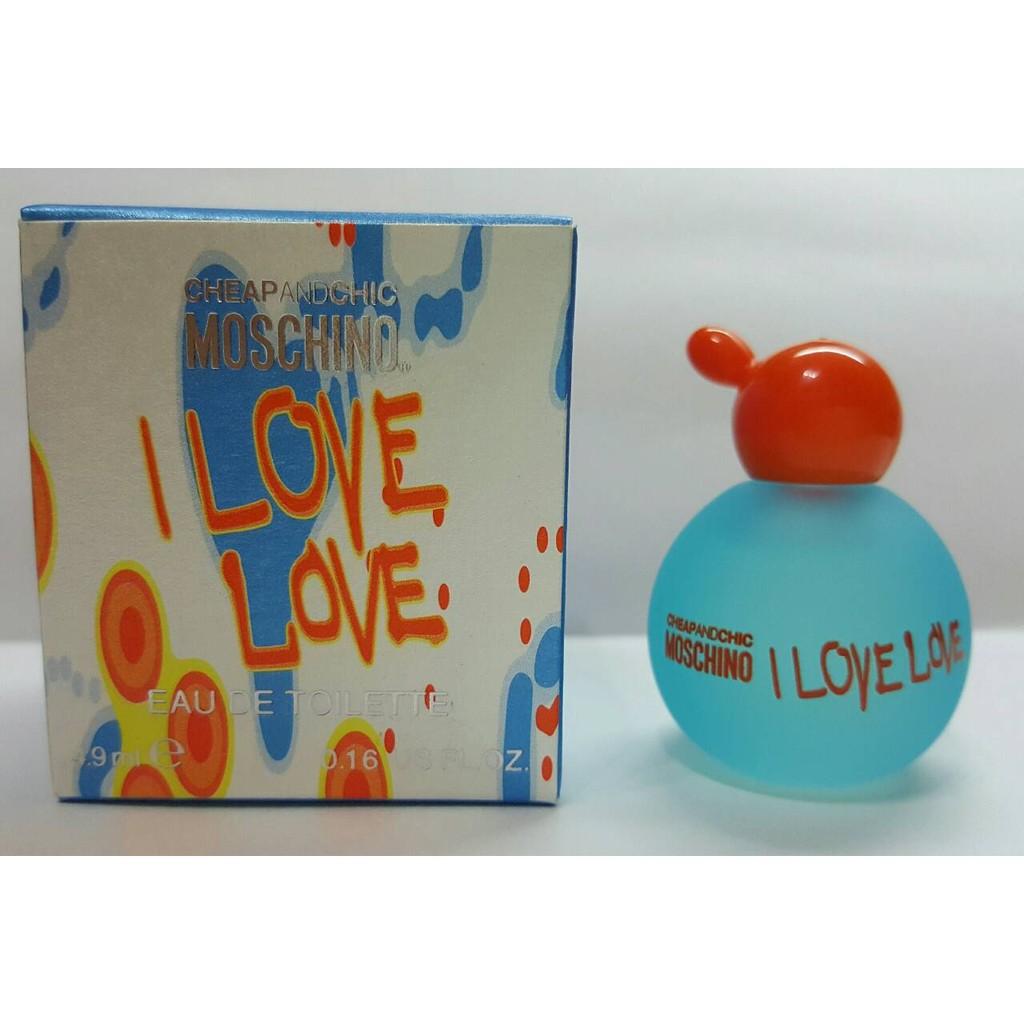 Moschino I LOVE LOVE 愛戀愛女性淡香水小香4 9ml