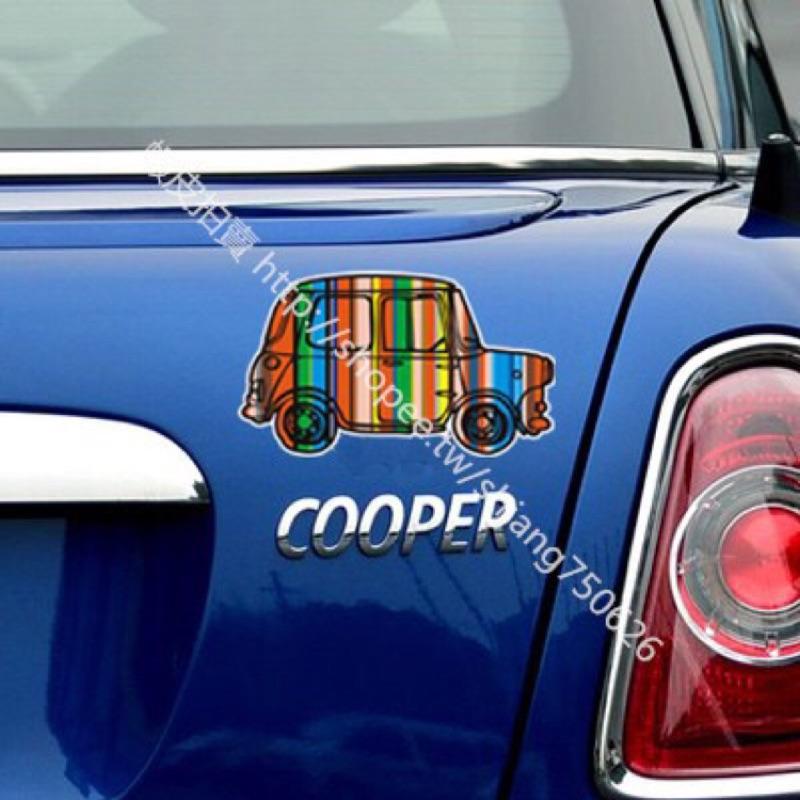 mini 汽車 ~彩色復古車貼紙汽車貼紙裝飾